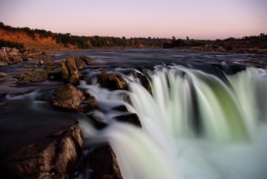 Dhuandhar Waterfall at the Marble Rocks, Narmada River, Jabalpur