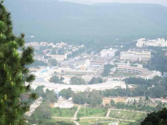 Tirumala aerial view