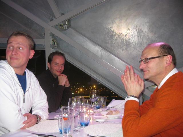 Dinner inside the Atomium