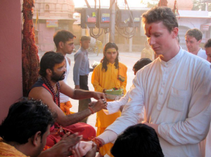 Asher Fergusson in Indian Temple