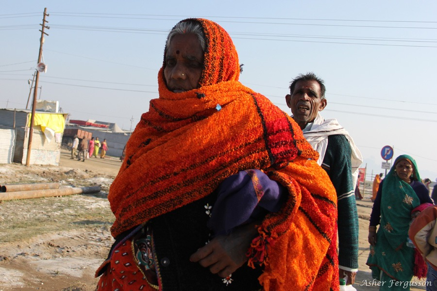 Orange Shawl - Kumbha Mela, India