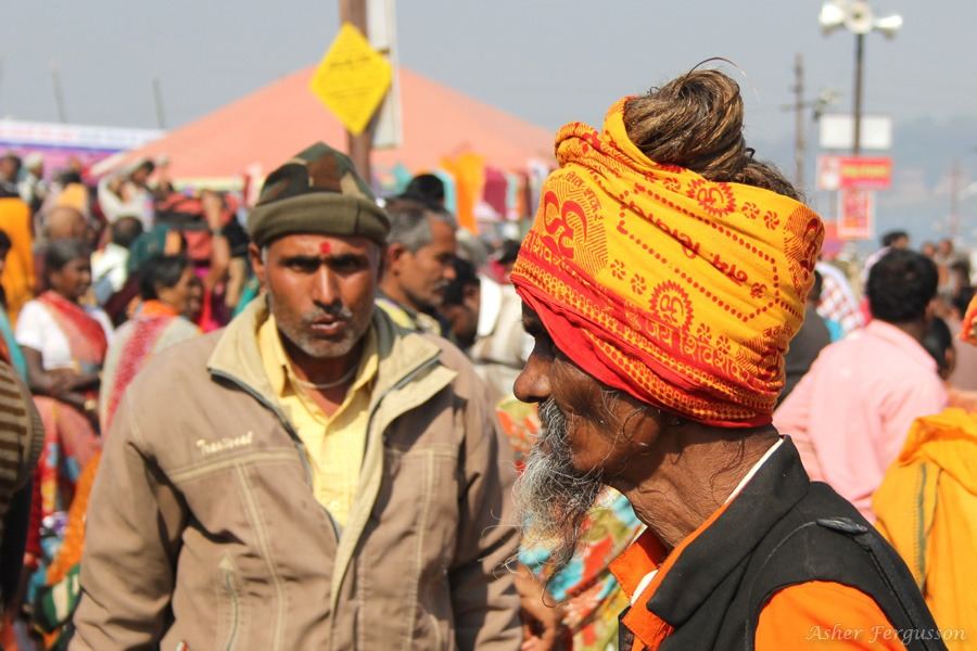 Indian man with orange turban