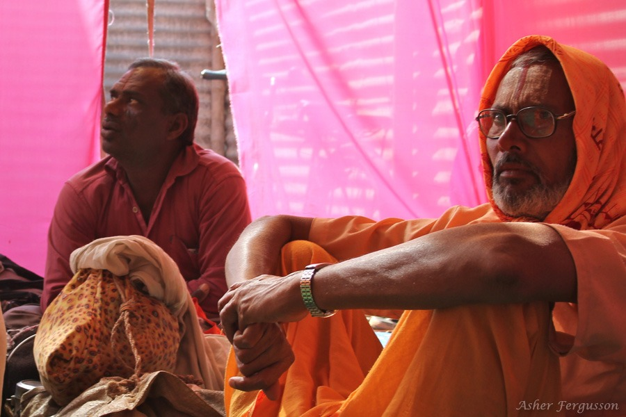 Sadhu in the Maharishi Tent