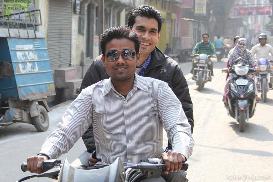 Indian men on motor bikes