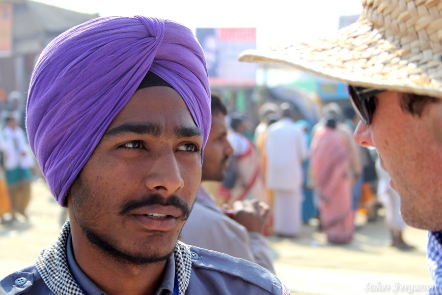 Purple turban India