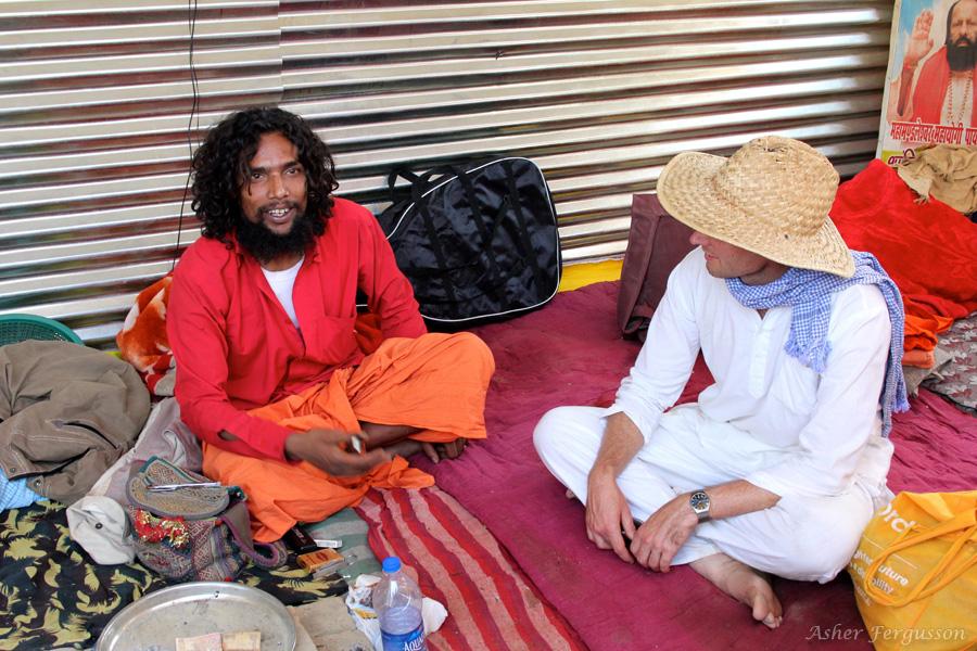 pot smoking sadhu marijuana
