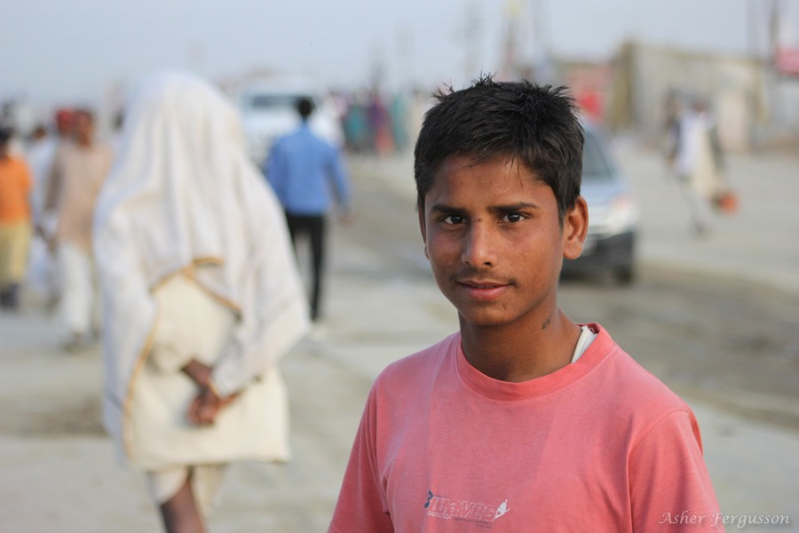 inquisitive indian boy