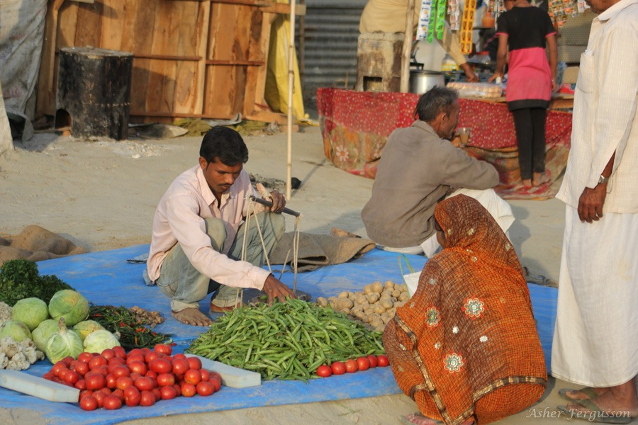 vegetable market kumbha mela india