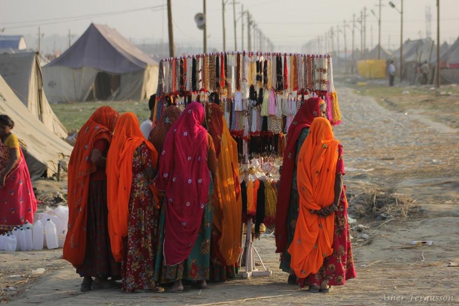 indian ladies kumbha mela allahabad