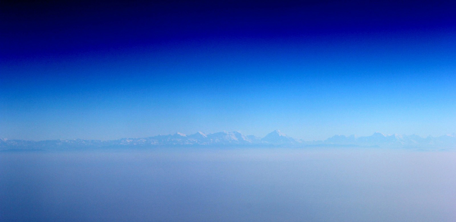 himalayas india from plane