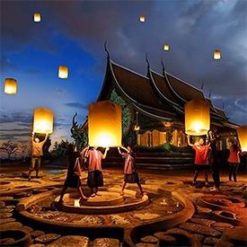 lighting-lanterns-in-thailand