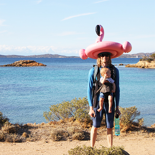 asher fergusson at beach with kingsley