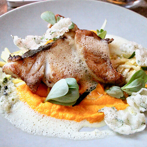Delicious fish in paris france