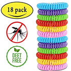 Colorful Mosquito Repellant Wristbands with Deet Free symbol