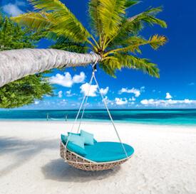 caribbean beach dry season