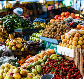 south american fruit stand