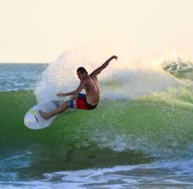 surfer in nicaragua
