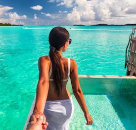 woman in caribbean