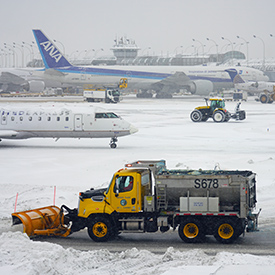 Snowstorm at Chicago O'Hare Airport