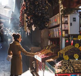 woman at market in turkey