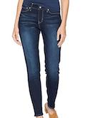 women's skinny blue jeans