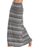 Long patterned maxi skirt