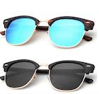 two pairs of unisex sunglasses