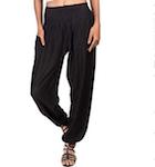 women's black harem pants