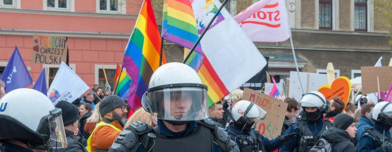 pride march in poland