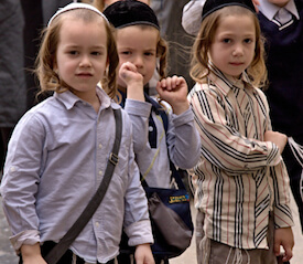 orthodox Israeli children