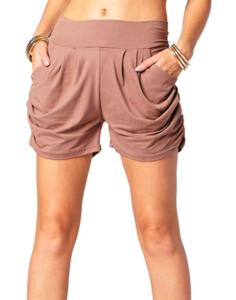 Women in brown shorts