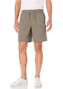 Guy wearing drawstring shorts