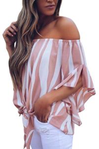 Women wearing striped blouse