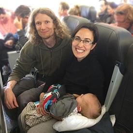 fergusson family on airplane