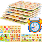 Practice Shapes with Wooden Puzzles