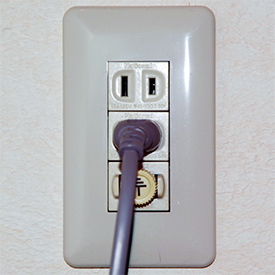Japanese power outlet