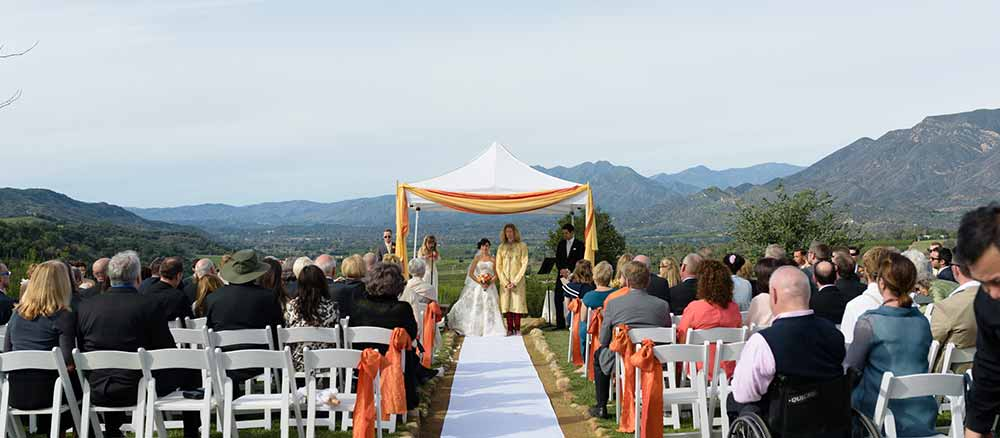 our wedding in ojai