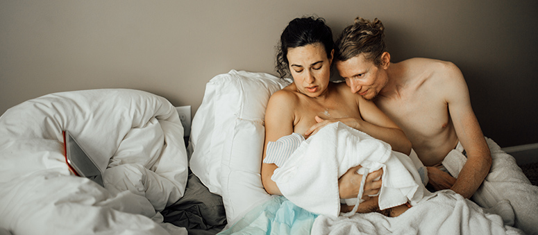 asher and lyric fergusson at birth of daughter