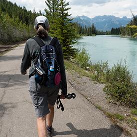 Banff Canada Female hiker