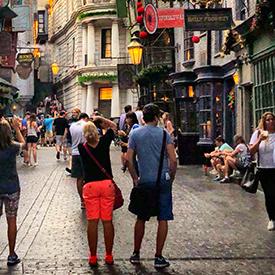Couple-in Orlando, Universal Studios