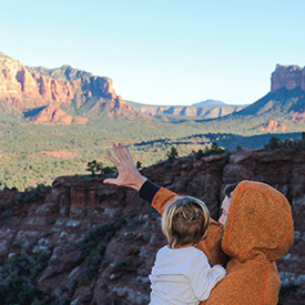 Father and child in Sedona