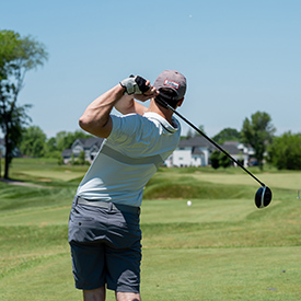Golfer driving