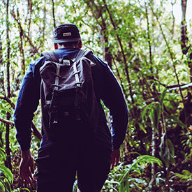 Hiker Kalalau Trail
