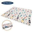 Foldable baby mat