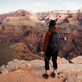 Lady hiking in Arizona