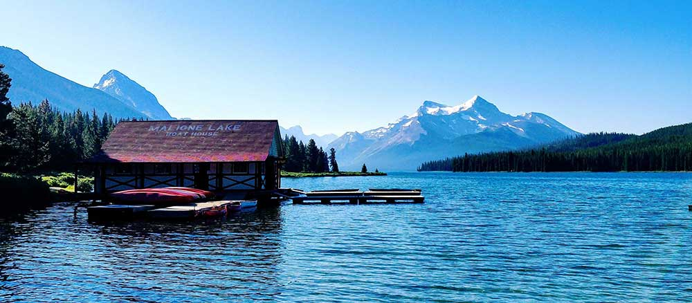 Lake house panorama