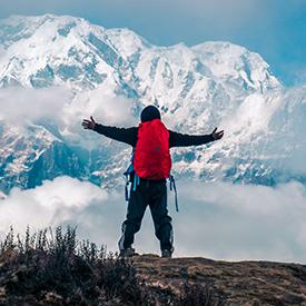 Man hiking Annapurna