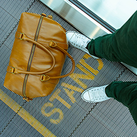 Minimalist travel with small duffel bag