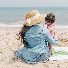 Mother and child in Nantucket