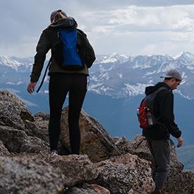 Two hikers in Colorado Rockies